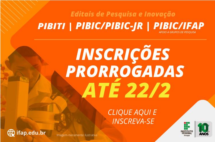 Ifap prorroga inscrições para 39 bolsas de iniciação científica