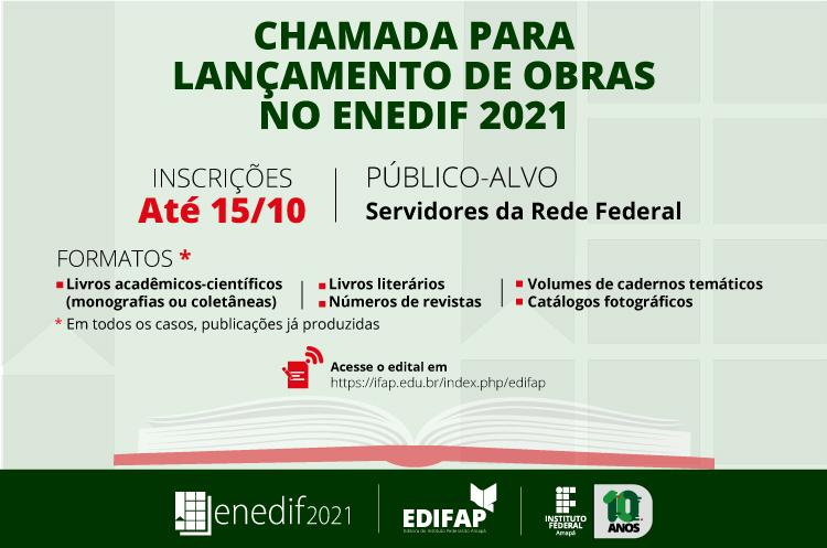 ENEDIF 2021|Chamada para lançamento de obras